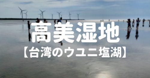 高美湿地(台湾のウユニ塩湖)の行き方やおすすめ時間帯【持ち物】